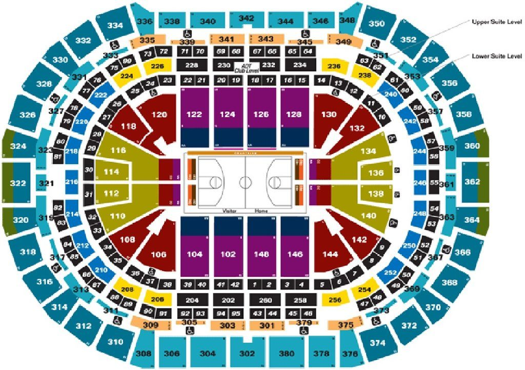 Nuggets Seating Chart - Pepsi Center